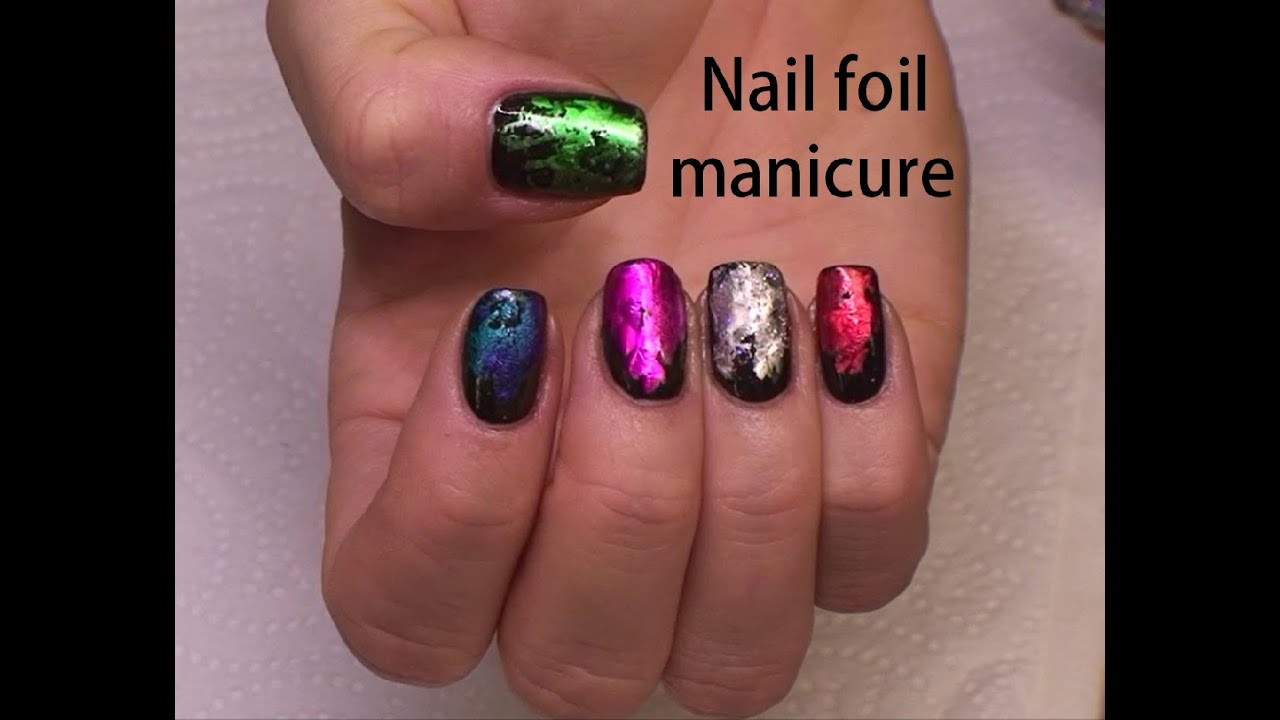 How to use nail foil without glue - YouTube