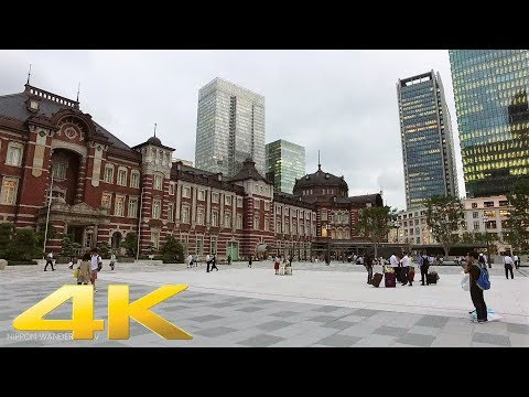 Walking around Tokyo station at dusk - Long Take【東京・東京駅】 4K