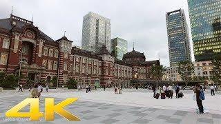 Walking around Tokyo station at dusk - Long Take【東京・東京駅】 4K