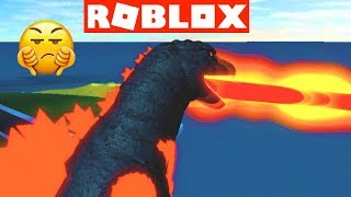 KAIJU ONLINE with Burning GODZILLA (Last Try)  Godzilla Roblox Video Game