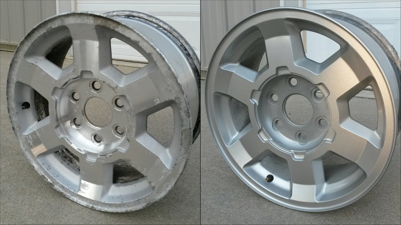 Pitted Aluminum Wheel Restoration Painting How To 17 Gmc Rims