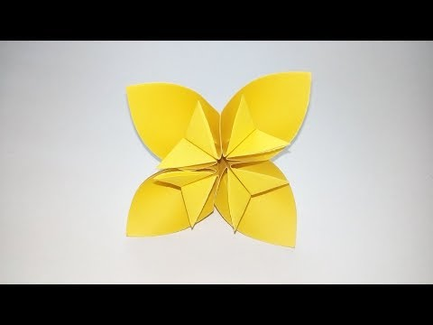 Easy Origami Kusudama Flower   How to make a Kusudama Paper Flower   Easy Paper Origami