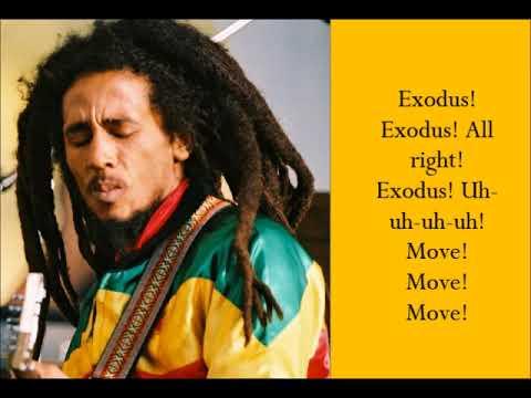 Exodus - Bob Marley - (Lyrics)