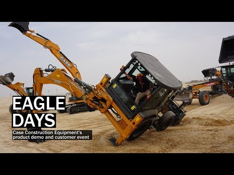 Case Construction Machines Perform Hollywood-style Stunts In Dubai