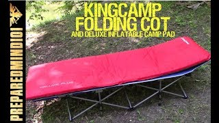 KingCamp Folding Cot, Deluxe Camp Pad, and More - Preparedmind101