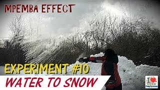 Making Snow with Boiling Water | MPEMBA EFFECT | Experiment - 10 | Prakhar Trikha