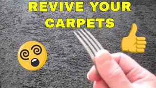 A quick and super cheap way to restore the pile of your carpet in h...