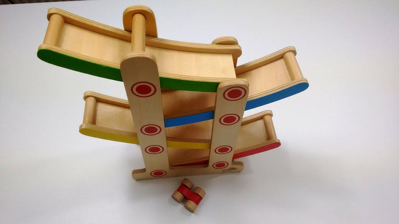 wooden zig zag car slide toy | race track ramps | kids fun toys | racing