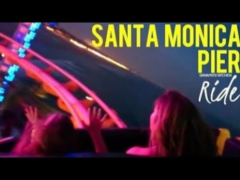 Santa Monica Pier ~ Roller Coaster Ride On Pacific Ocean