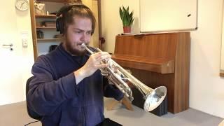 """Guitar Solo from Meshuggah's """"Corridor of Chameleons"""" on Trumpet"""