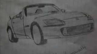 drawing of honda s2000
