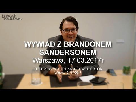 Wywiad z Brandonem Sandersonem || Interview with Brandon Sanderson - Warsaw, 17.03.2017