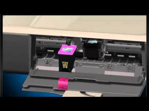 how to put ink into hp pinter