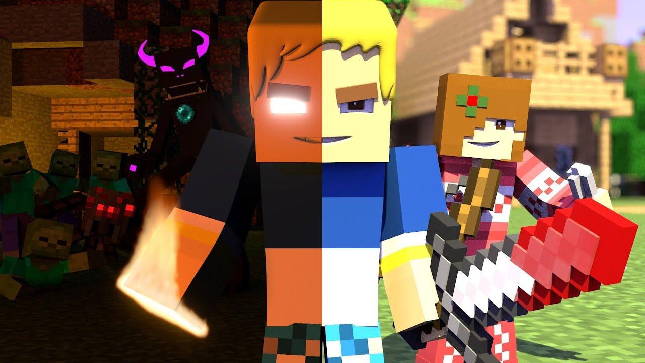 Minecraft Animation Wallpaper Herobrain Anıl Piyancı Amp Burak Oyunda A Minecraft