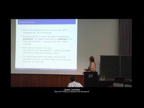 Does HoTT Provide a Foundation for Mathematics? by James Ladyman (University of Bristol, UK)
