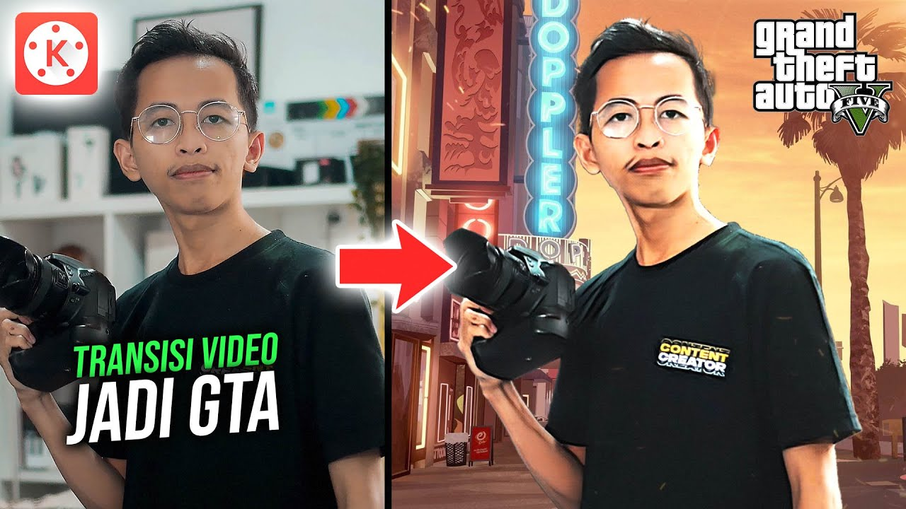 Cara Edit Video Menjadi GTA di Hp Android | KINEMASTER TUTORIAL #63