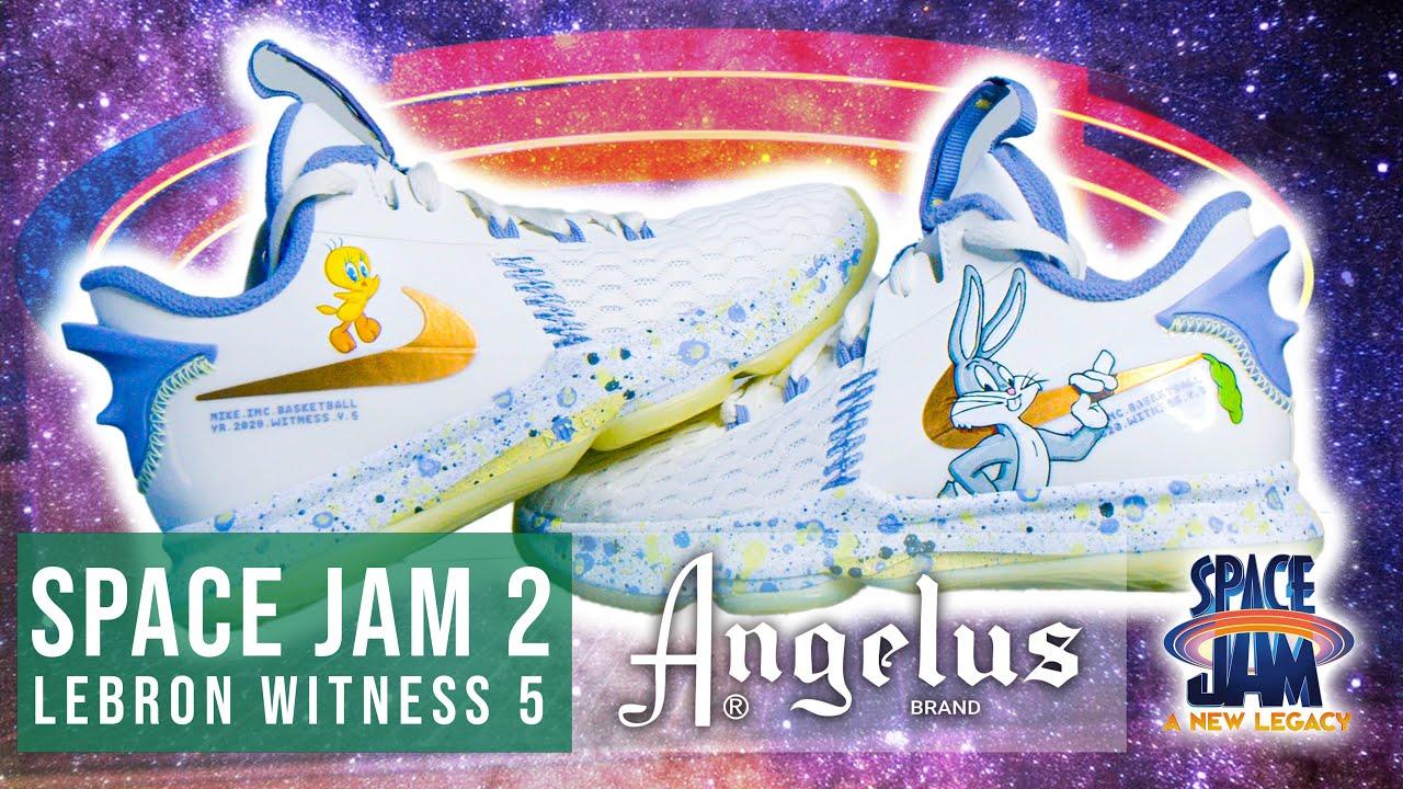 Space Jam 2 Custom Lebron Kids Shoes | Angelus Paints