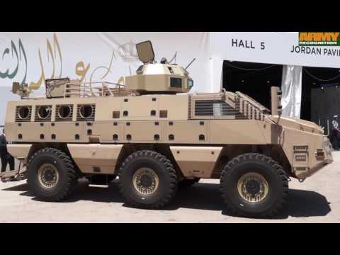 Jordanian defense industry Paramount Group KADDB Mbombe Al Wash armoured SOFEX 2016 Jordan Amman