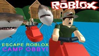 Побег из ЛАГЕРЯ РОБЛОКС! Escape ROBLOX Camp Obby Детское видео Мульт игра Let's play