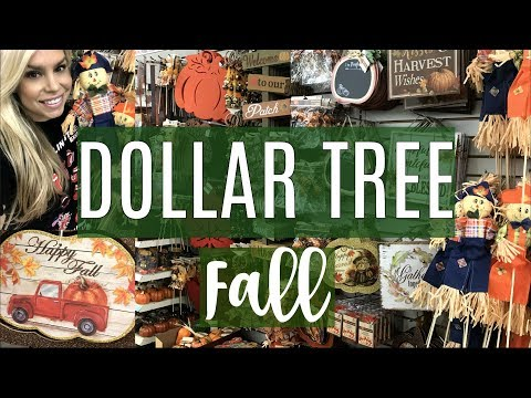 NEW FALL DECOR DOLLAR TREE | SHOP WITH ME | CHIC ON THE CHEAP