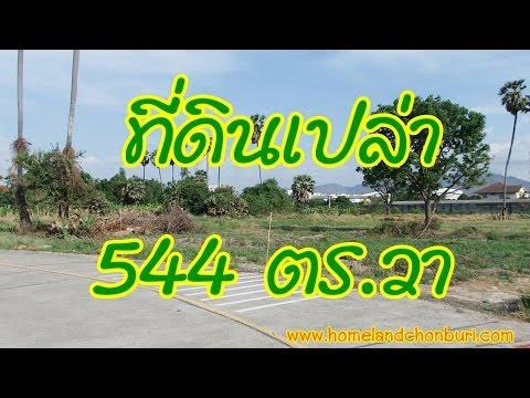 ที่ดินชลบุรี พื้นที่ 544 ตร.วา กว้าง 34 เมตร ลึก 65 เมตร ติดทางสาธารณะ ต.บ้านสวน