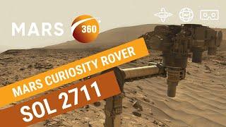 Mars 360: NASA's Mars Curiosity Rover - Sol 2711 (360video 8K)