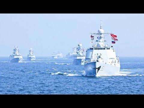 Sino-Russia Military drills east china Sea power Muscle Show 中俄海上聯合軍事演習