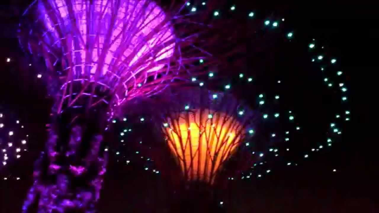 Garden By The Bay Night 2015.05.02 singapore gardensthe bay night light show - youtube