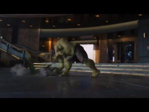 The Avengers : Funny Hulk Moments : Loki Smash, Thor Punch And Ironman Scream HD