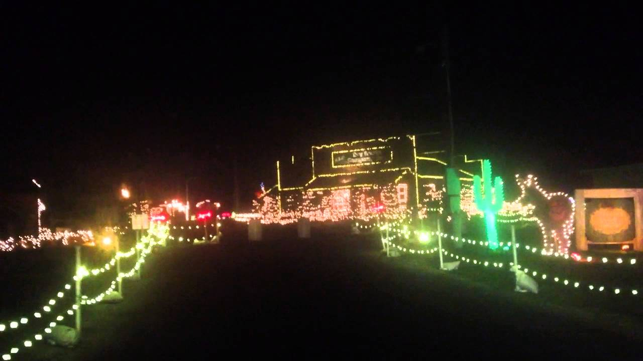 a drive through tour of overlys country christmas light display - Overly Country Christmas