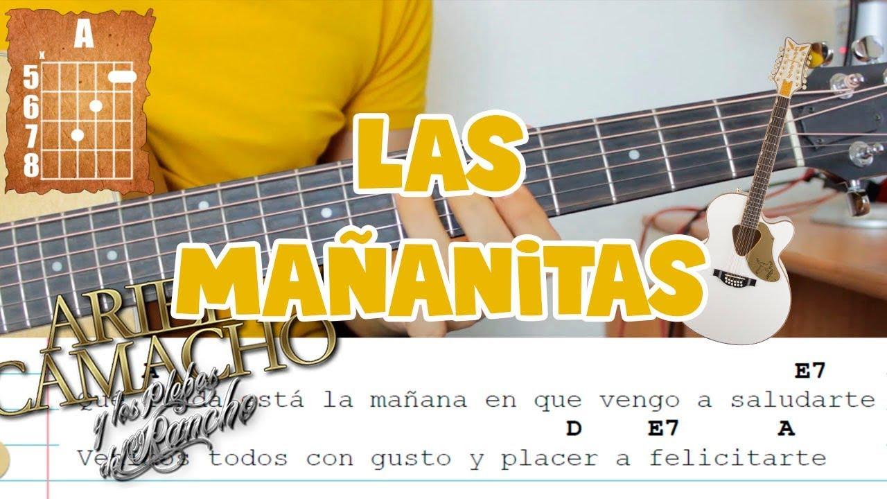 Las mañanitas   Ariel Camacho   Guitarra Armonia Tutorial Chords ...