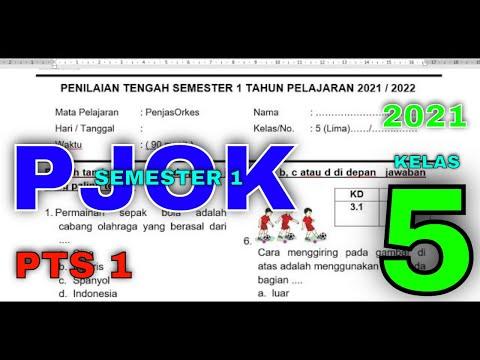 PTS PJOK KELAS 5 SEMESTER 1 - SOAL PJOK 2021