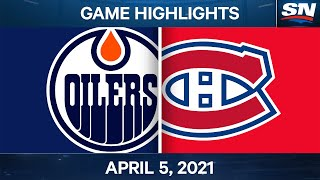 NHL Game Highlights | Oilers vs. Canadiens - Apr. 5, 2021