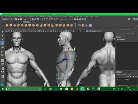 maya torso modelling
