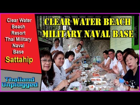 Pattaya Clear Water Beach Military Naval Base Sattahip Thailand Ultra 4K