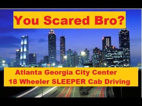 Atlanta Georgia Near City Center in a Sleeper Cab Vampire Viking Driving