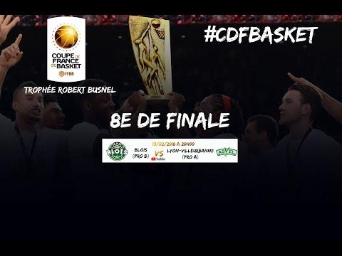Live - ADA Blois - ASVEL Lyon Villeurbanne - 8e de finale de la Coupe de France