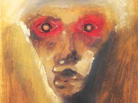 Schoenberg Painting Red Gaze