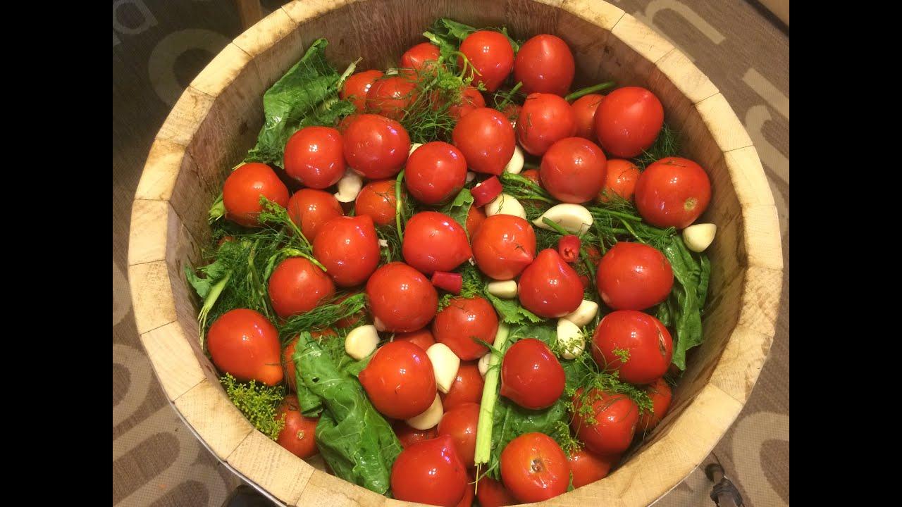 засолка помидор на зиму как бочковые