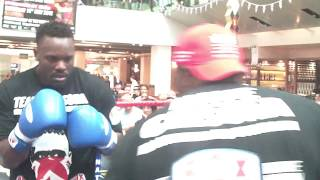 Dereck Chisora :Upclose Pad Work with Don Charles