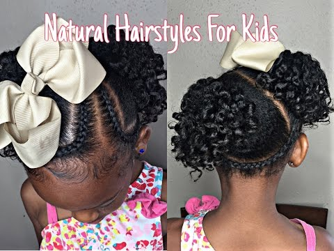 Kids Natural Hairstyle : Braids With Twistout