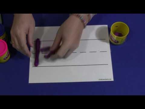 Playdough Letter Writing