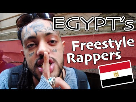 Freestyle Rappers of CAIRO, EGYPT + Egyptian Street Food & More! رابر مصر هنا القاهرة