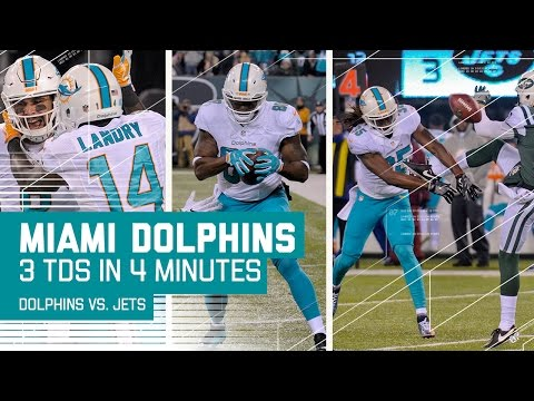 Dolphins Break Game Open with 3 TDs in 4 Minutes! | Dolphins vs. Jets | NFL Week 15 Highlights