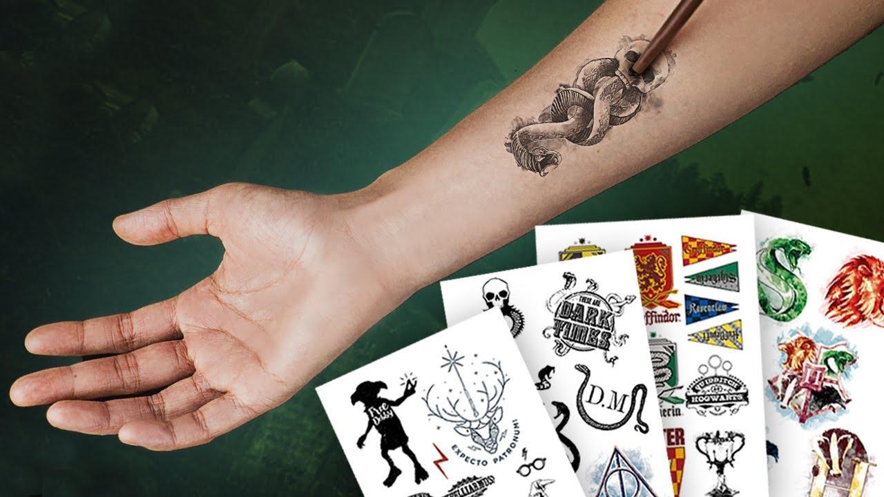 Harry Potter Tattoo Diy Temporary Tattoo Stickers Cinereplicas