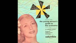 Britten Young Persons Guide to the Orchestra (first recording, 1946)