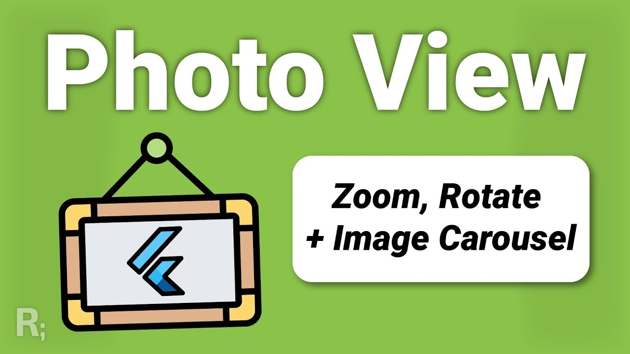 Flutter Photo View & Gallery – Resize & Rotate + Image Carousel