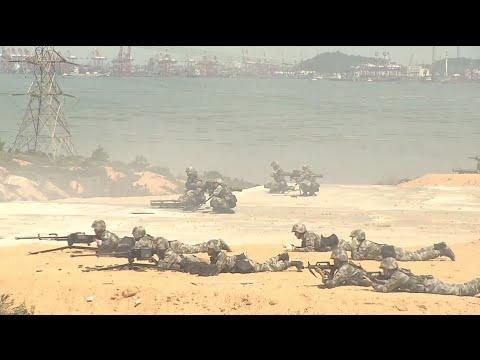 PLA Hong Kong Garrison Conducts Military Drill