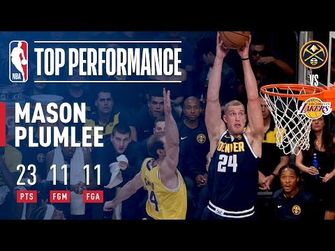 Mason Plumlee Goes PERFECT From the Field vs. L.A. (11-for-11) | 2018 NBA Preseason
