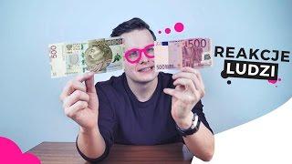 BANKNOT 500 zł vs. 500 EURO - REAKCJE LUDZI